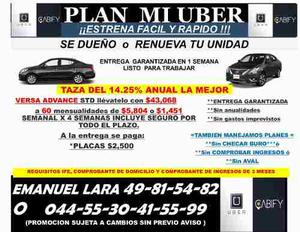 Versa Advance Std Para Taxi Df O Uber Df