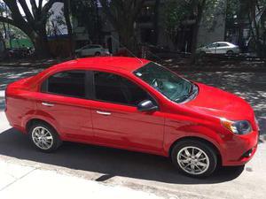 Chevrolet Aveo Motor Gas 4 Cil 1.6l  Rojo 4 Puertas C