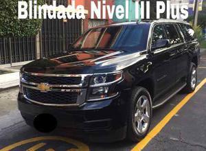 Chevrolet Suburban 5.3 Piel 2da Cubo At Blindada Iii Plus