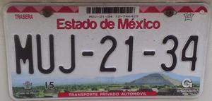 placas del estado de mexico df y guerrero